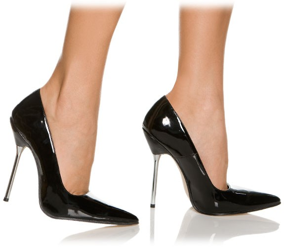 0c02cb325a30d Pointed Toe High Heel Stiletto Pumps with Thin 13 cm Metal Spike Heel