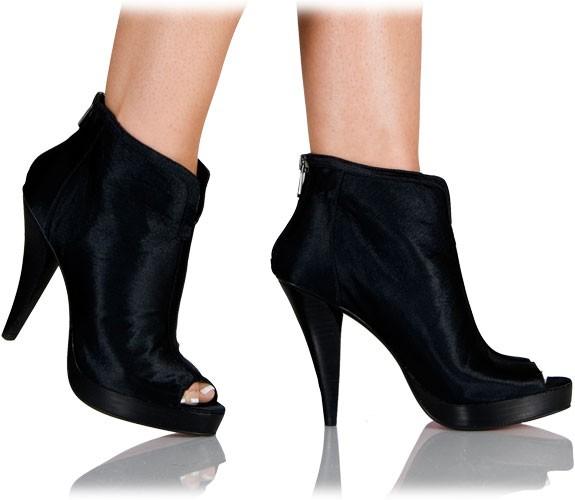 shelly sch ne peep toe stiefelette stiefeletten high heels hot heels. Black Bedroom Furniture Sets. Home Design Ideas