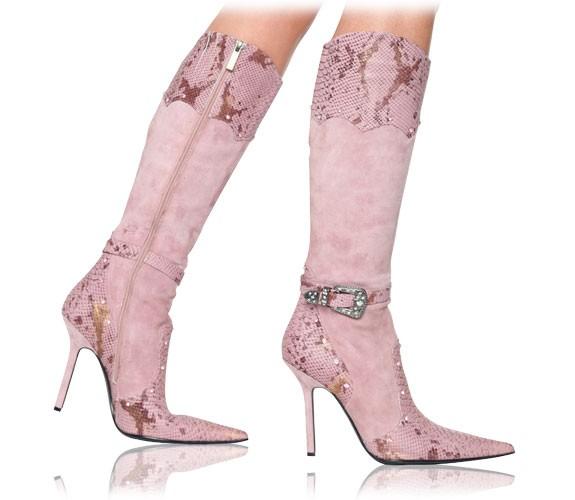 3a5f042949e3 FATIMA   Zauberhafte Velours Stiefel von RosaRot   Stiefel   High ...