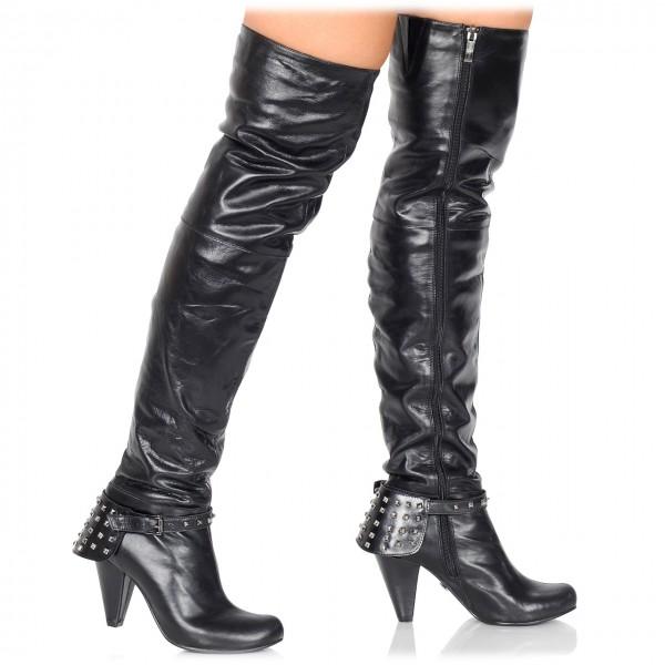 delia atemberaubender overknee stiefel aus leder stiefel high heels hot heels. Black Bedroom Furniture Sets. Home Design Ideas