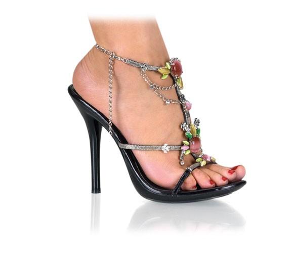 eclair 26 sommer sandale mit farbigen steinen sandalen mittlerer absatz high heels hot heels. Black Bedroom Furniture Sets. Home Design Ideas