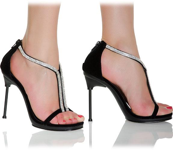 chic 29 edle t strap sandalette mit strassbesatz sandalen mittlerer absatz high heels. Black Bedroom Furniture Sets. Home Design Ideas